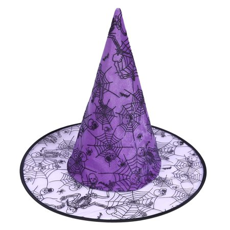 HDE Witch Hat Halloween Costume Cosplay Wicked Witch Accessory Adult One Size (Purple)