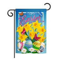 """Angeleno Heritage G135154-BO Daffodils Easter Spring Impressions Decorative Vertical 13"""" x 18.5"""" Double Sided Garden Flag"""