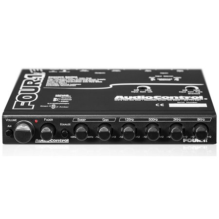 Audio Control Four1i In Or Under Dash Car Audio 5 Band Stereo Graphic Equalizer W Auxiliary Input W Para Bass Subwoofer Equalization