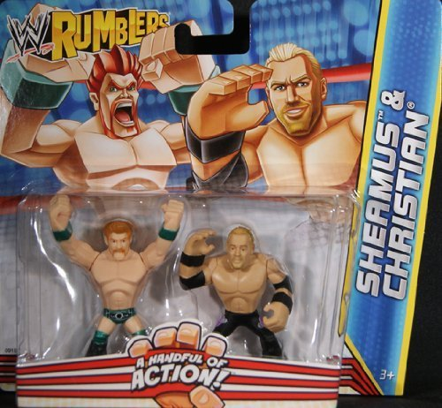 CHRISTIAN & SHEAMUS - WWE RUMBLERS TOY WRESTLING ACTION FIGURES