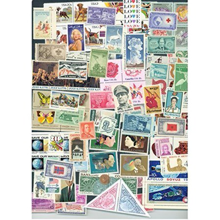 Lot of 100 different MINT US Postage Stamps, Vintage Packet MNH unused by, Lot of 100 different MINT US Postage Stamps, Vintage Packet MNH unused By USPS Ship from US