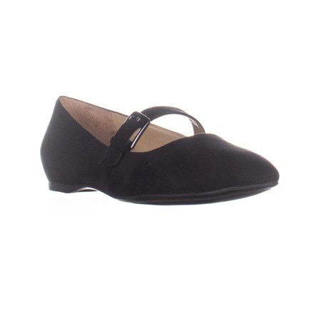 - Womens naturalizer Truly Mary Jane Flats, Black Fabric, 8 US / 38 EU