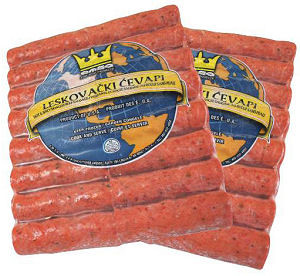 Minced Meat Sticks Hot - Leskovacki Cevapi, approx. 2.2 lb Plastic