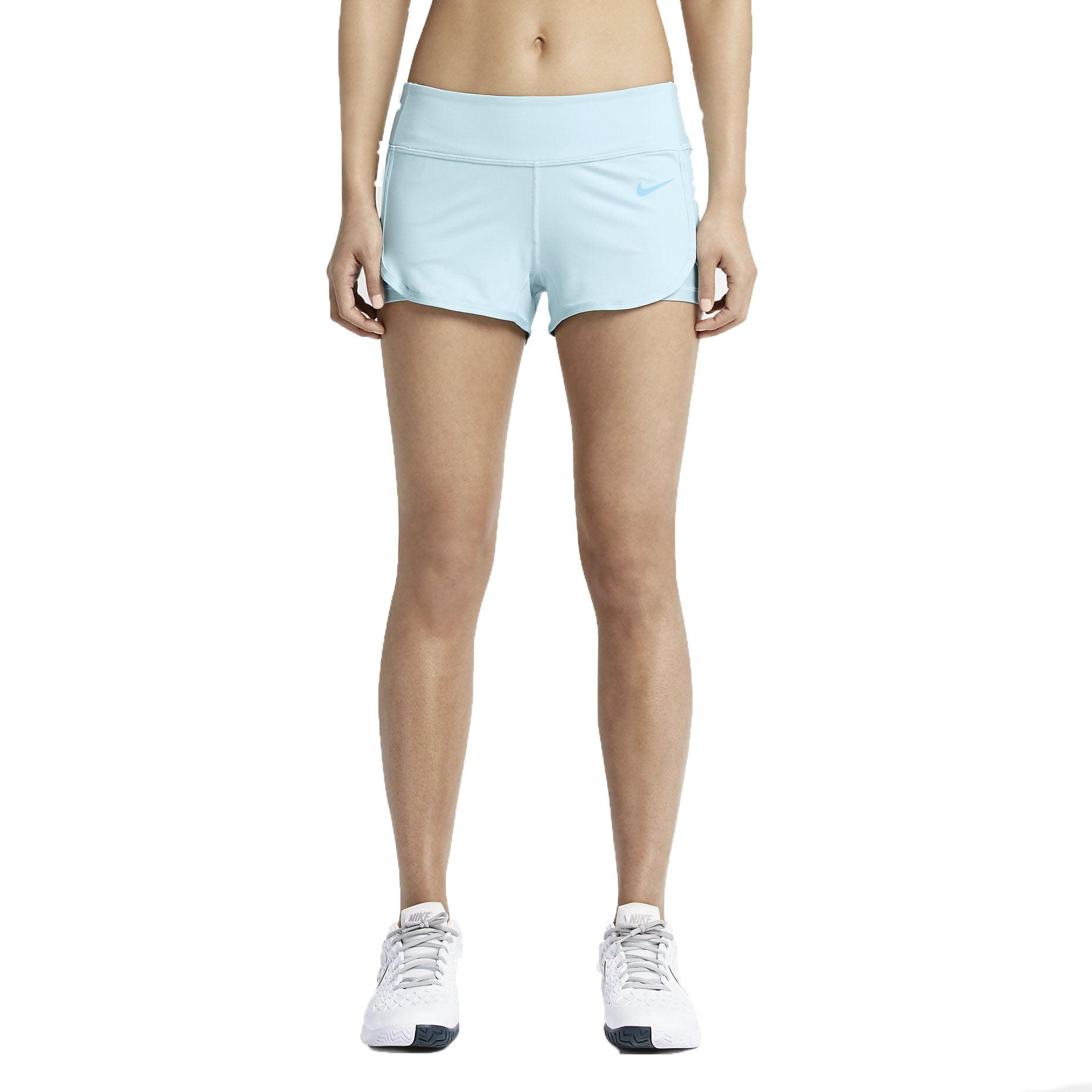 Nike Women's Dri-Fit Ace Court Tennis Shorts-Light Blue-XL by Nike