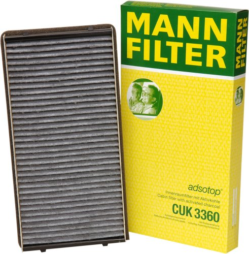 MANN-FILTER CUK 3360 Cabin Filter With Activated Charcoal...