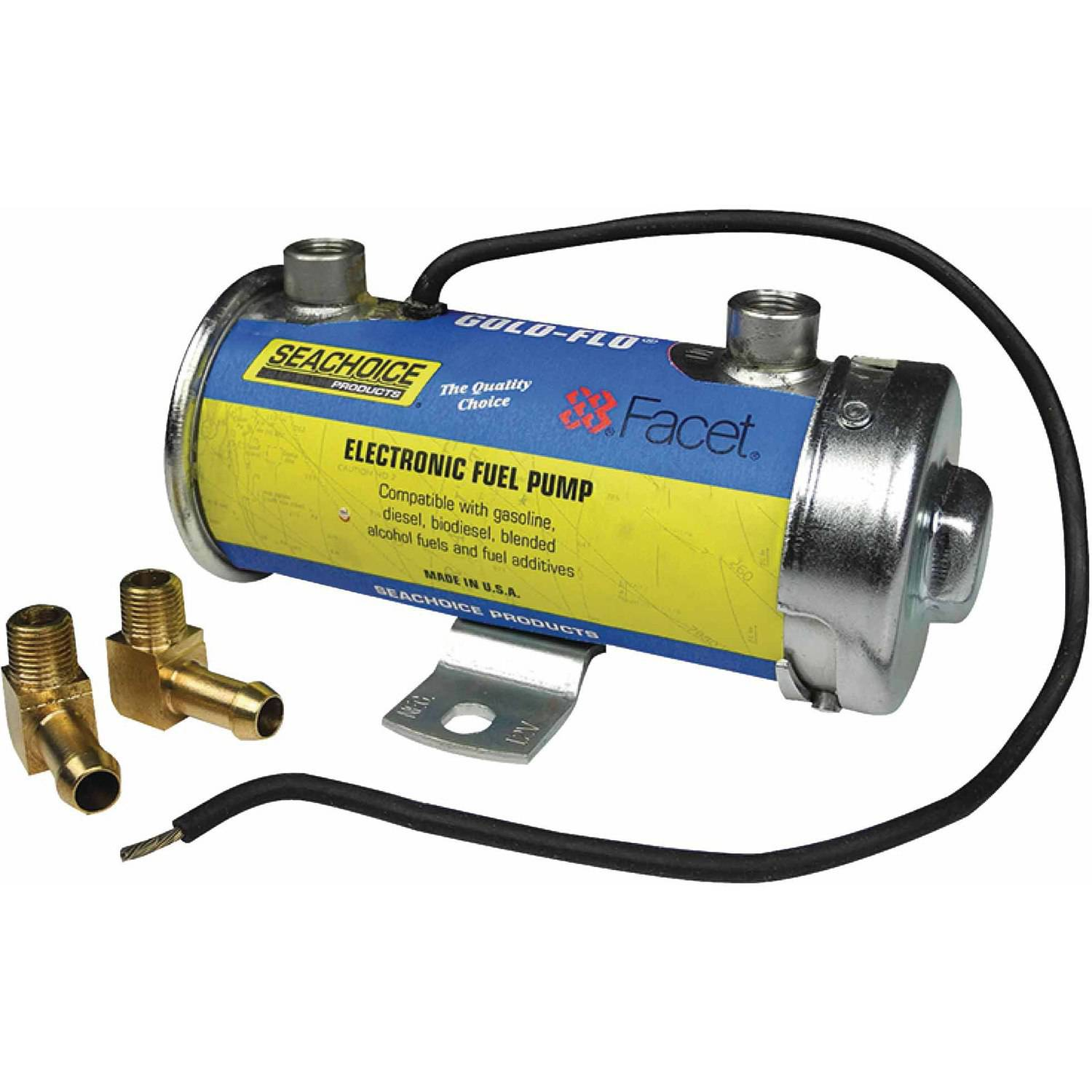 Seachoice 20301 12V Gold-Flo High Performance Electronic Fuel Pump Kit, 34 GPH by Seachoice Products