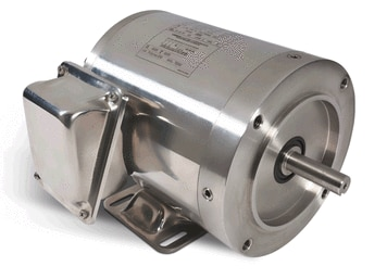 1 2 hp 3450 RPM 56C Frame TENV 208-230 460V Stainless Steel Leeson Electric Motor # 191203 by