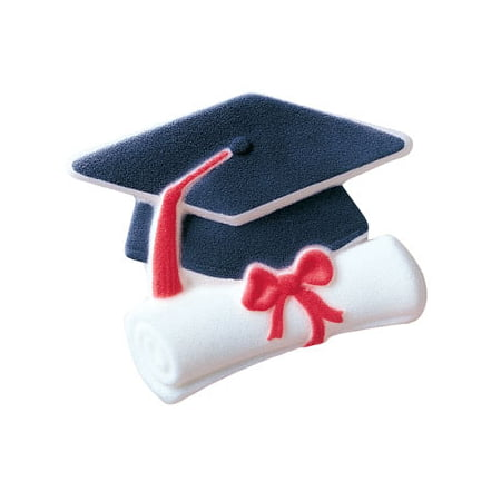 Nursing Graduation Cap Decorations (Graduate Cap And Scroll Sugar Decorations Toppers Cupcake Cake Cookies Graduation Favors Party 12)