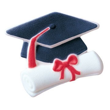 Graduate Cap And Scroll Sugar Decorations Toppers Cupcake Cake Cookies Graduation Favors Party 12 Count (Ideas For Decorating Graduation Cap)