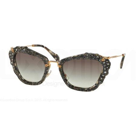 da5b7848ca1 MIU MIU - MIU MIU Sunglasses MU 04QS DHE0A7 Havana Marble White Black MM -  Walmart.com