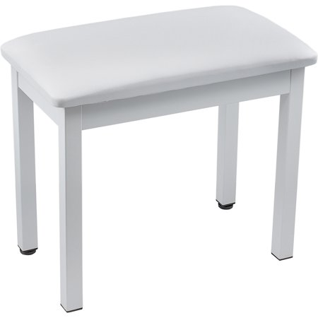 Knox Full Size 19 Inch Piano Bench White