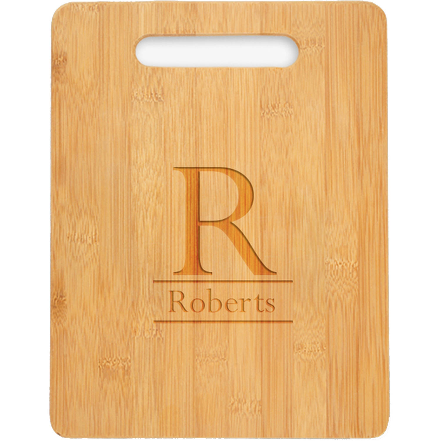 "Personalized Initial Wooden Cutting Board, Sizes 12.5"" x 11.5"" and 12.5"" x 13.75"""