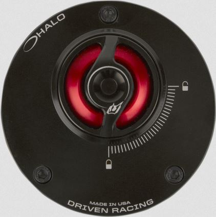 Driven Halo Fuel Cap Red