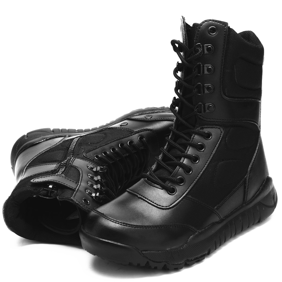 New Fashion Men's Military Ankle Boots High Top Leather Army Combat SWAT Hunting Work Shoes