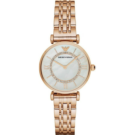 Emporio Armani Women's Retro Mother of Pearl Rose Gold Watch AR1909 (Emporio Armani Women Shirts)