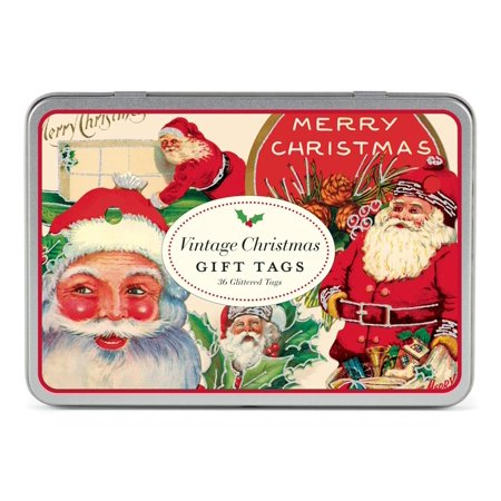 Cavallini Glitter Gift Tags Vintage Christmas, 36 Assorted Gift Tags, 36 assorted gift tags packaged in a tin. By Cavallini Co Ship from US ()