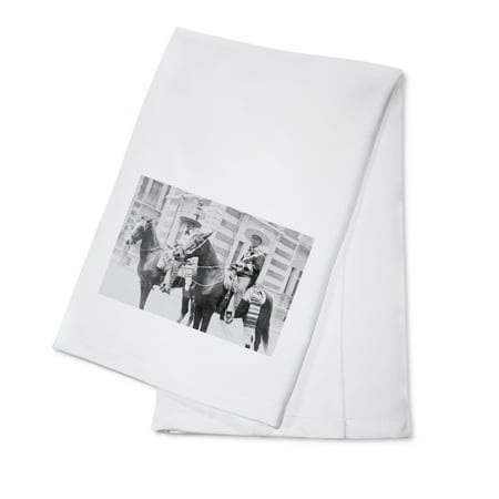 Men in Charro Costumes in Tampico Mexico Photograph (100% Cotton Kitchen Towel)