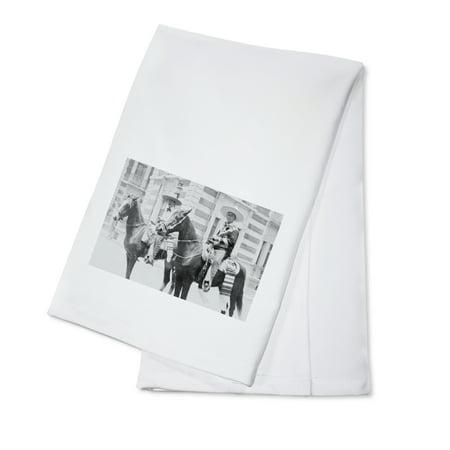 Men in Charro Costumes in Tampico Mexico Photograph (100% Cotton Kitchen Towel) (Costume Mexico)
