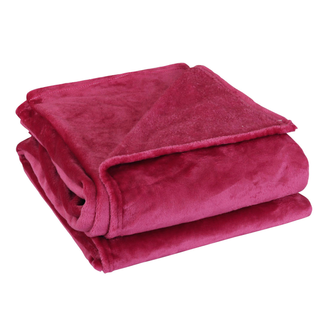 Unique Bargains Twin Size Bed Sofa Soft Fleece Throws Blanket Warm Soft