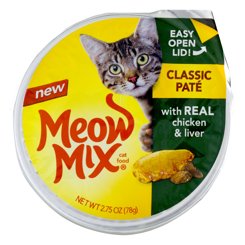 Meow Mix Cat Food Classic Pate Real Chicken & Liver, 2.75 oz by Big Heart Pet Brands