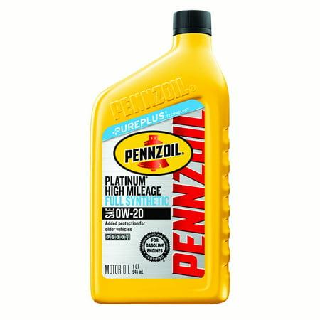 Pennzoil Platinum High Mileage 0W-30 Motor Oil, 1 qt