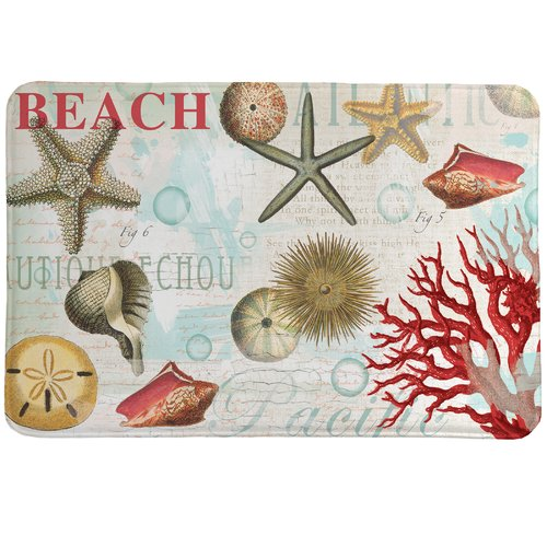 Laural Home Dream Beach Shells Mat