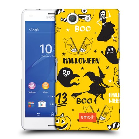 OFFICIAL EMOJI HALLOWEEN PATTERNS HARD BACK CASE FOR SONY PHONES 2