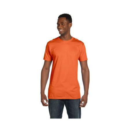 Hanes Mens Ringspun Cotton Crewneck Nano-T T-Shirt, Style 4980