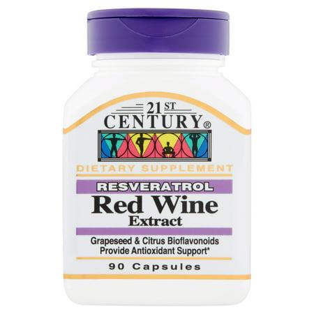21st Century Resveratrol Red Wine Extract Capsules, 90