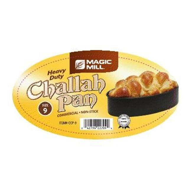 Magic Mill NCCP09 9 inch Oval Challah Pan, Non Stick