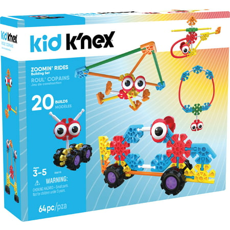 Knex Serpents - KID K'NEX - Zoomin' Rides Building Set - 65 Pieces - Ages 3 and Up Preschool Educational Toy