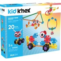 KID K'NEX - Zoomin' Rides Building Set - 65 Pieces - Ages 3 and Up Preschool Educational Toy