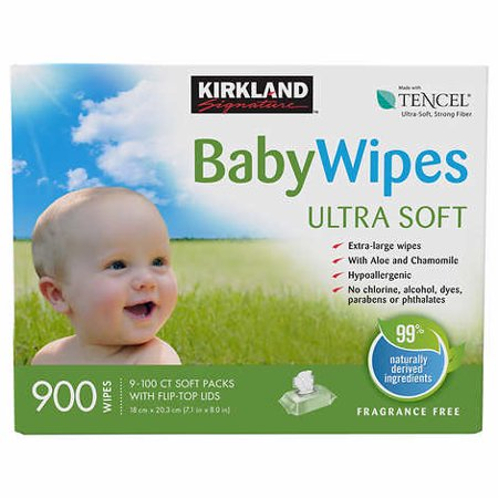 Kirkland Signature Baby Wipes With Aloe & Chamomile
