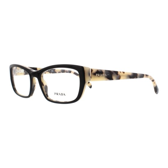 6c8afb54fd PRADA Eyeglasses PR 18OV ROK1O1 Top Black White Havana 52MM - Walmart.com