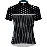 Primal Wear Polka Line Women's Cycling Jersey: Black/White , LG