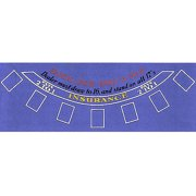 Trademark Poker Blackjack Layout, Blue Felt