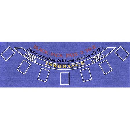 Trademark Poker Blackjack Layout, Blue Felt - Blackjack Table
