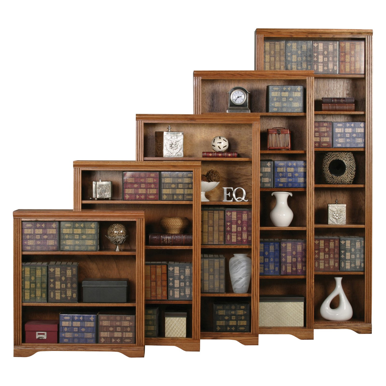 Eagle Furniture Oak Ridge Customizable Open Bookcase
