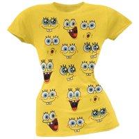 Spongebob Squarepants - Spongebob Expressions Juniors T-Shirt