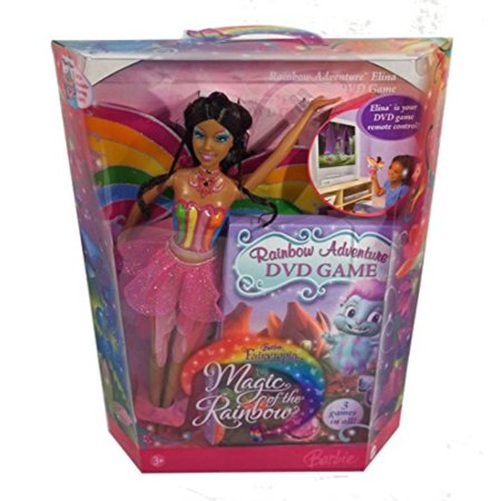 Barbie Fairytopia Magic of the Rainbow: Rainbow Adventure - Elina & DVD Game (African American)](Halloween Barbie Games)