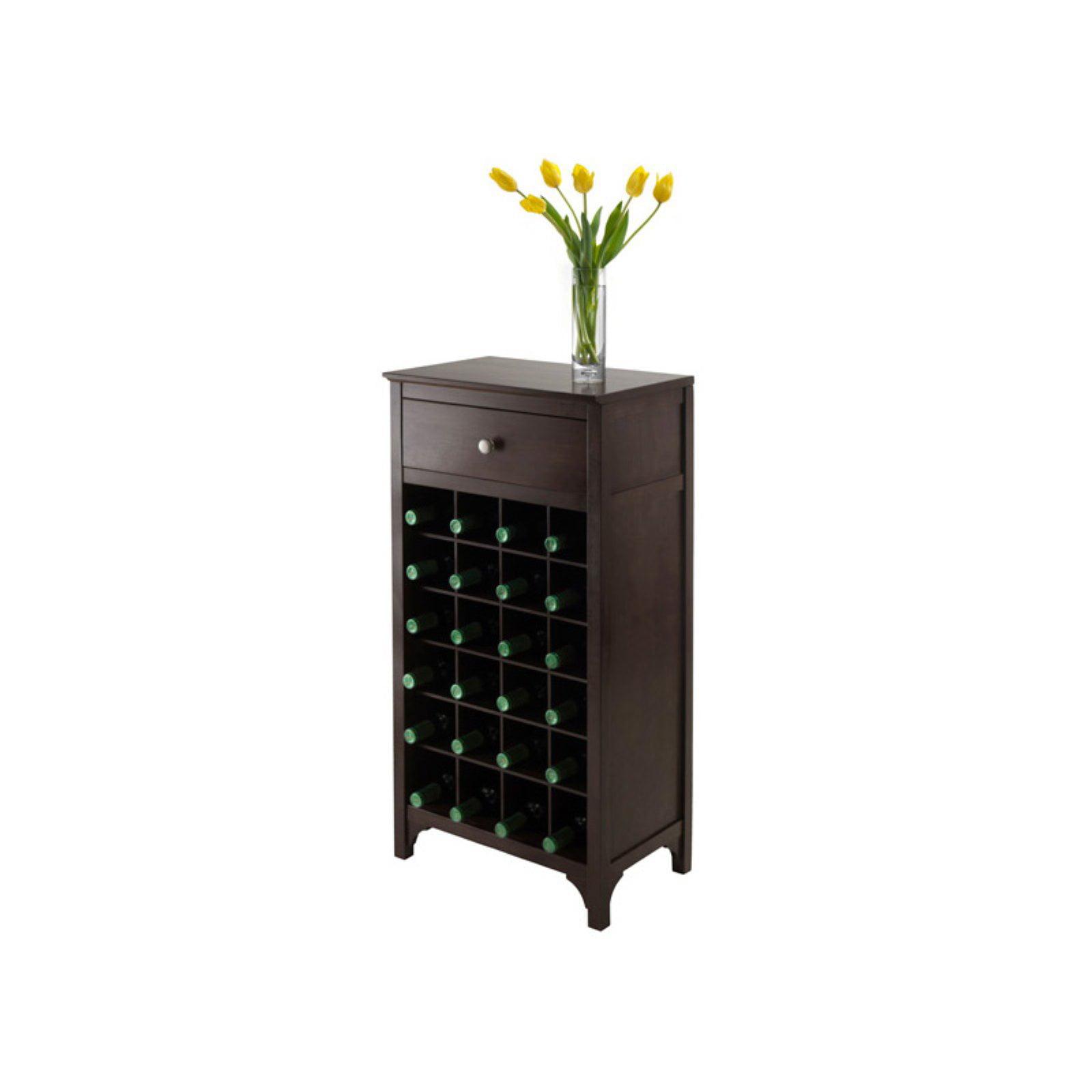 Ancona Modular Wine Cabinet, Drawer, 24-Bottle, Dark Espresso by Generic