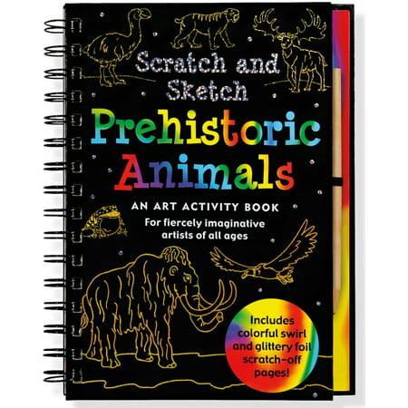 Prehistoric Animals Scratch and Sketch](Scratch Art Ideas)