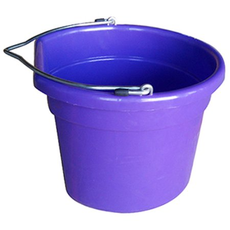 Utility Bucket, Flat Sided, Purple Resin, 8 Qts., Qingdao (Resin Flag)