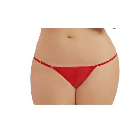 - Lacy Line Plus Size Sexy Mesh Thong With Adjustable Sides