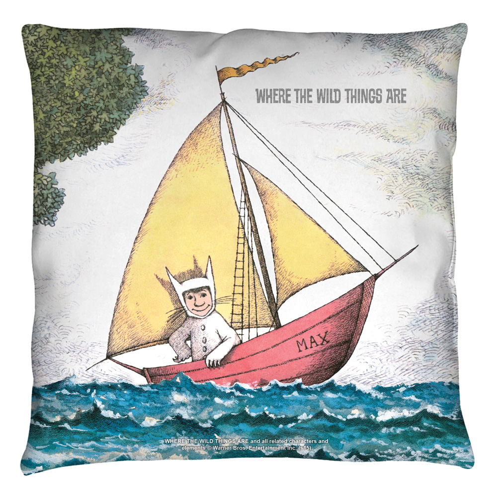 Where The Wild Things Are Max'S Boat Throw Pillow White 14X14