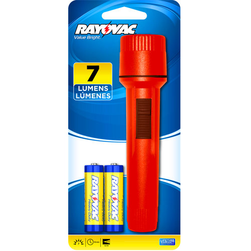 Rayovac Flashlight with 2 AA Batteries
