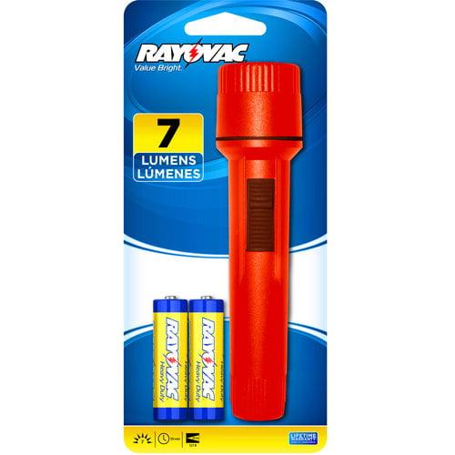 Rayovac Flashlight with 2 AA Batteries