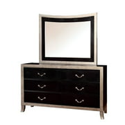 Furniture of America Camie Dresser and Mirror Set in Silver