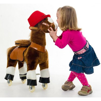 PonyCycle Ride-On Horse - Brown with white hoof - Age 3-5 - image 1 of 5