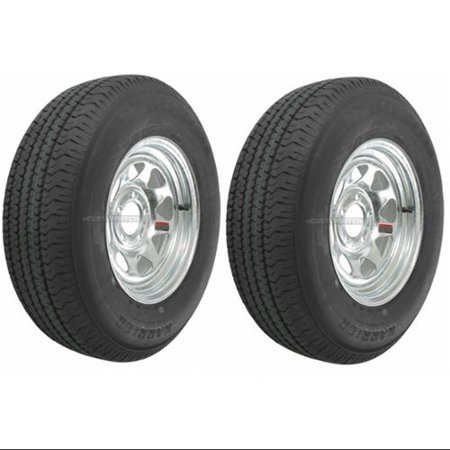 2-Pack Trailer Tire On Rim ST205/75D15 205/75 15 in. LRC 5 Hole Galvanized